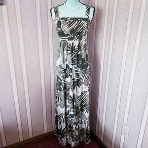 3/$10 Zena Tropical Theme Sleeveless Maxi Dress S